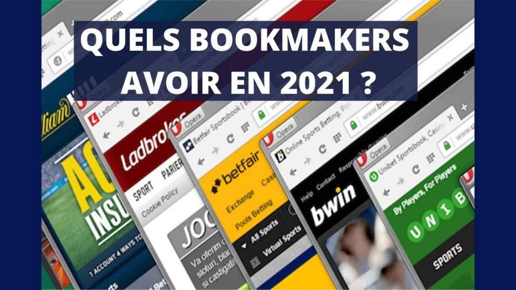 Liste des bookmakers à avoir en 2021