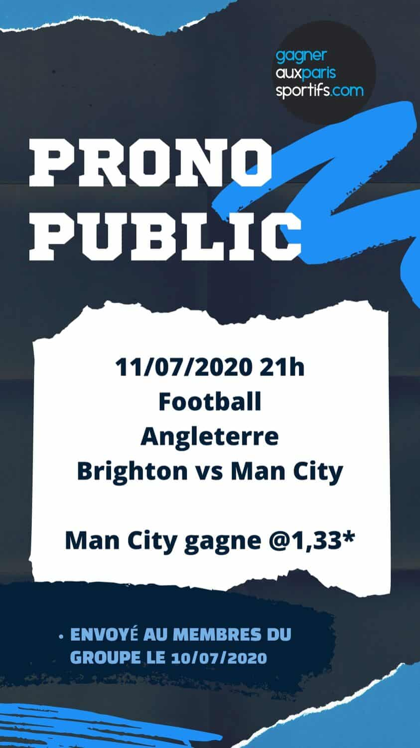pronostic brighton manchester city