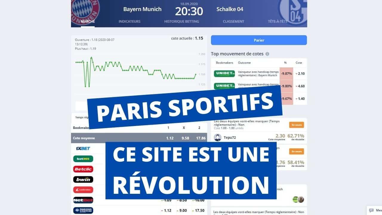 PARIS SPORTIFS _ ce SITE est une RÉVOLUTION pour les parieurs