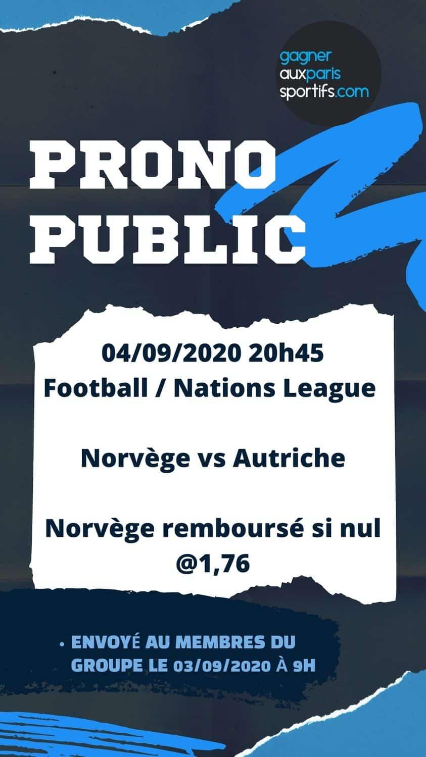 Prono norvege autriche ligue des nations