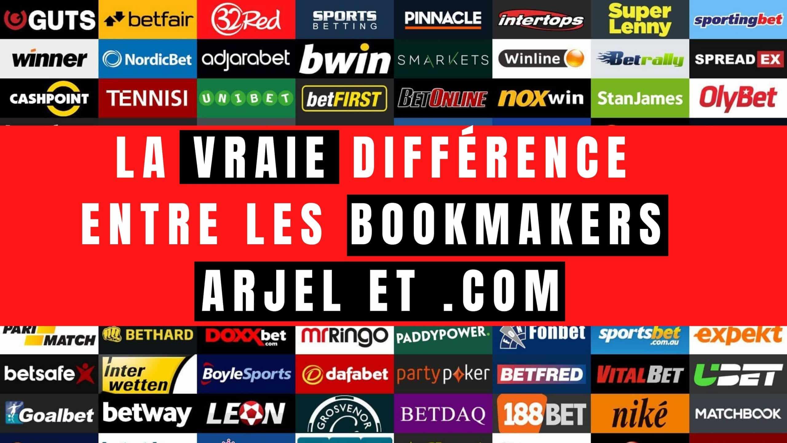 Quelle est la vraie différence entre les bookmakers ARJEL et .com