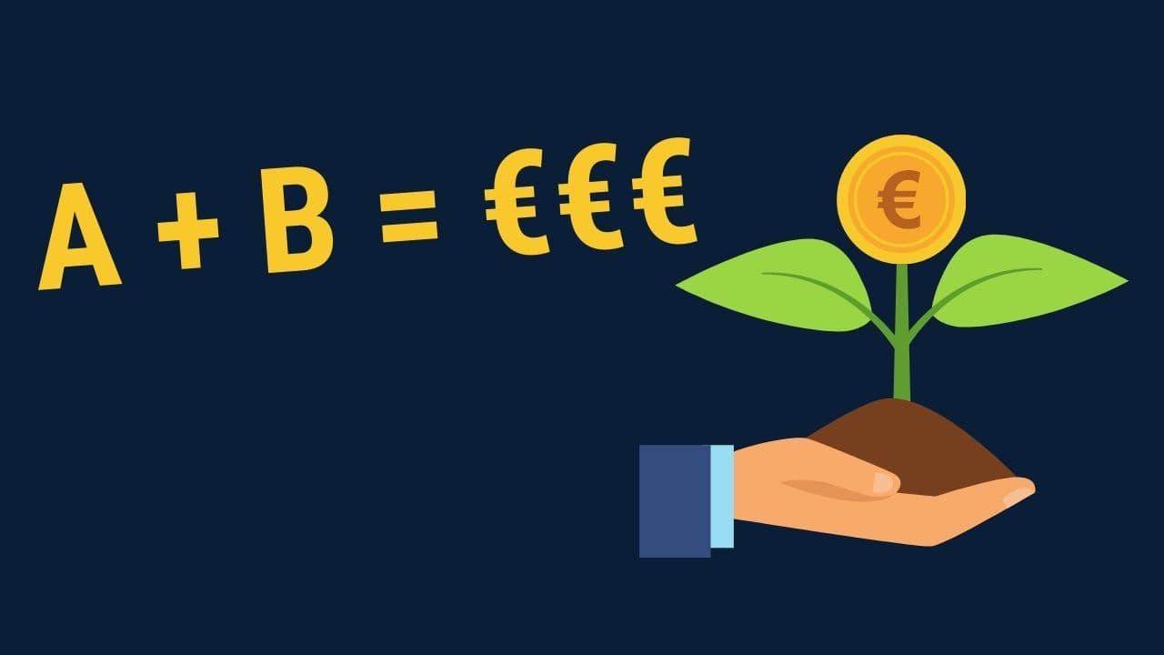A + B = €€€