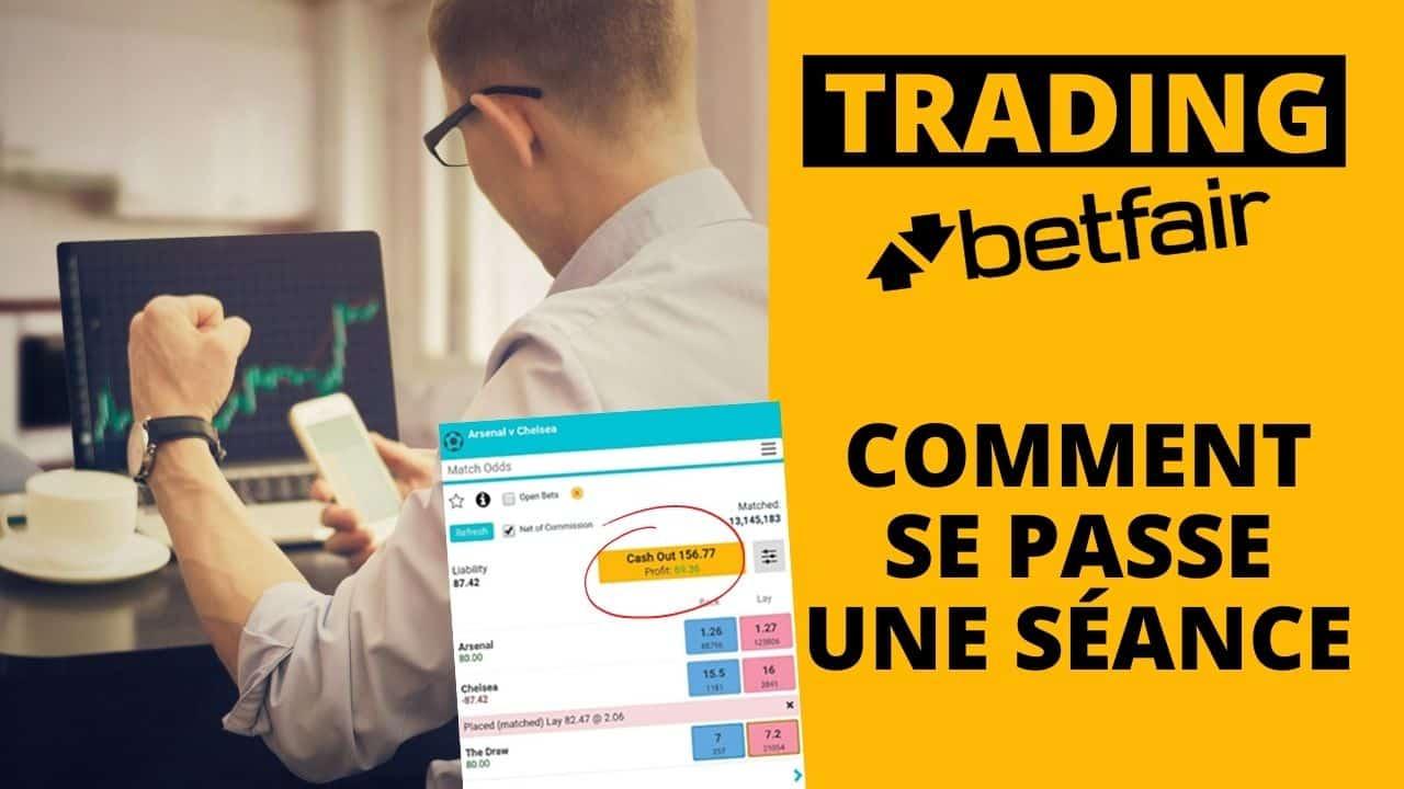 Trading foot Betfair : comment se passe une séance ?