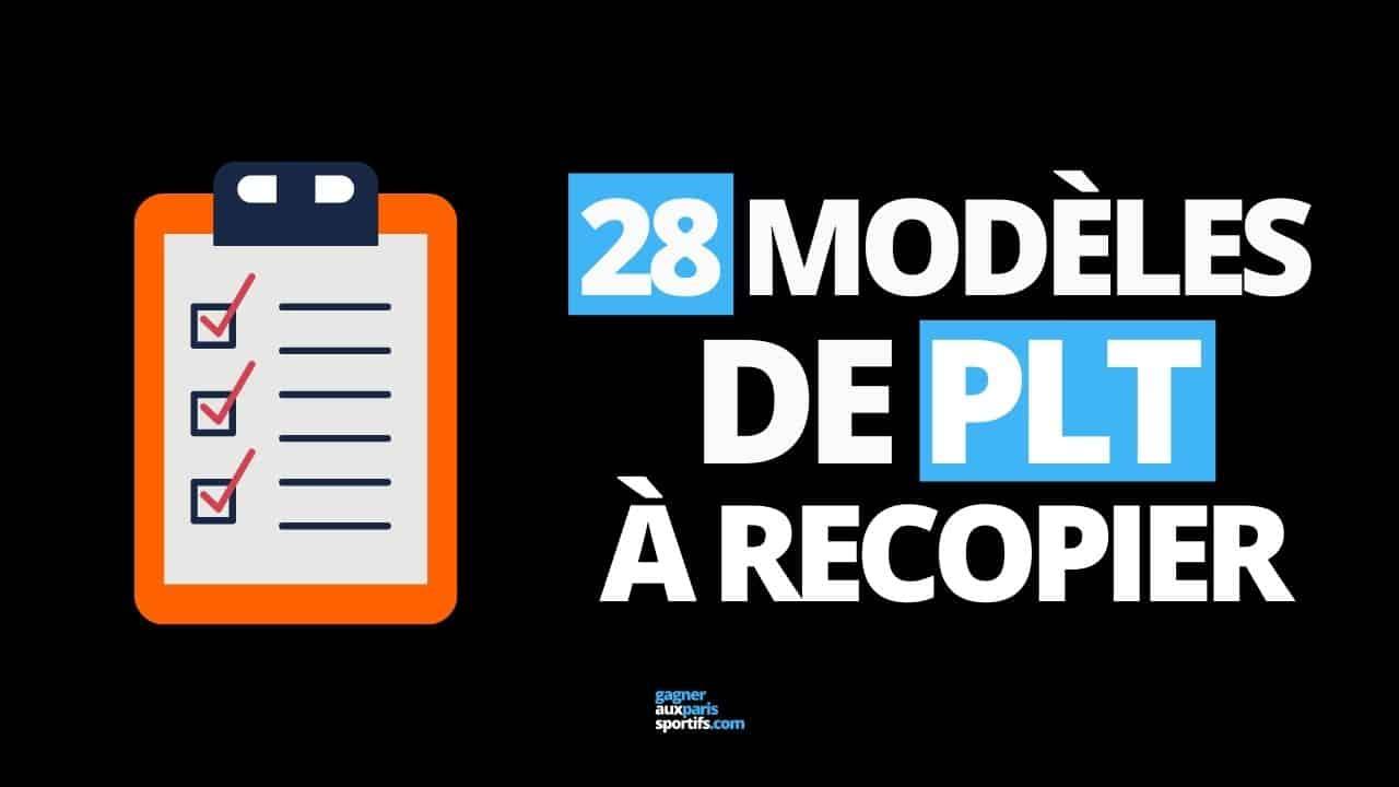 28 modèles de PLT à recopier