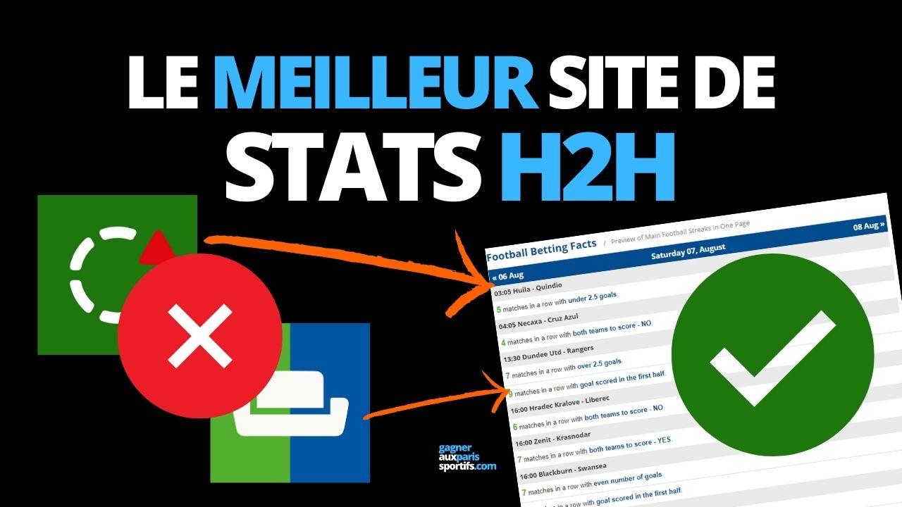 le meilleur site de stats H2H football